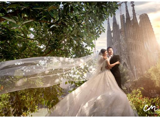 Barcelona spain pre wedding