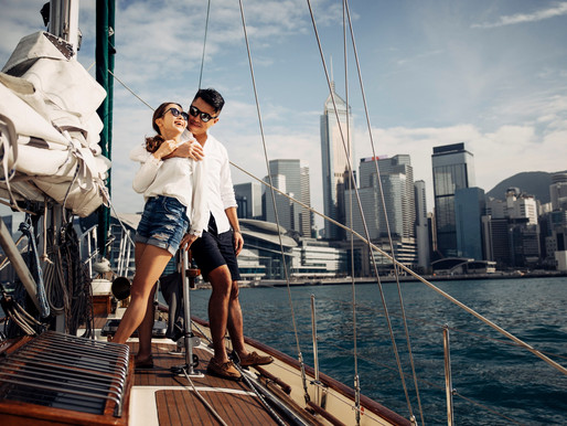 Engagement Session -   sailing boat Hong Kong