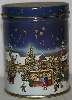 Christmas Second Cup Storage Tin