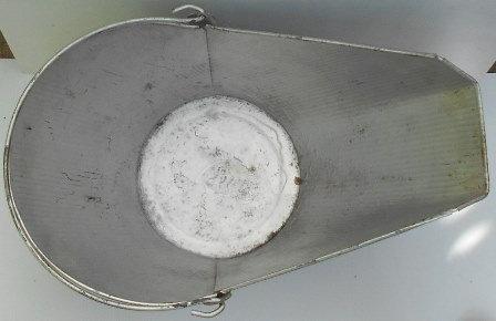 Vintage METAL SCUTTLE ASH COAL BUCKET