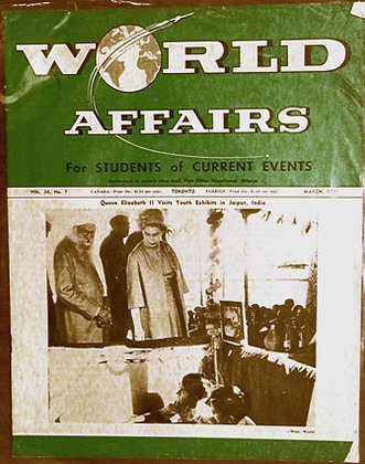 A Weekly Journal of World Affairs: March, 1961