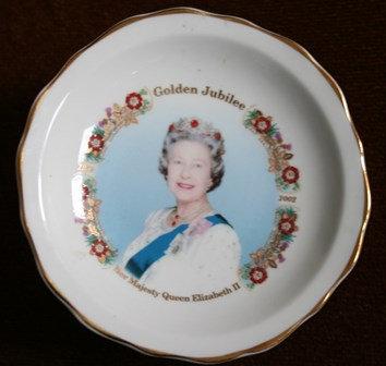 Queen Elizabeth Golden Jubilee Plate