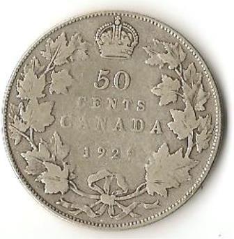 1929 Canada Silver Half Dollar