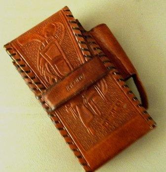 Leather Cigarette Package Holder