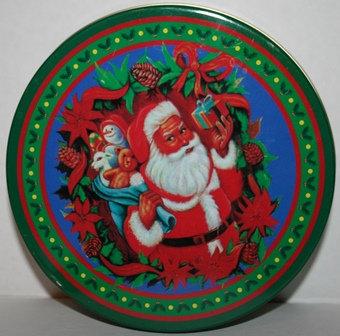 Vintage Santa Claus Cookie Tin