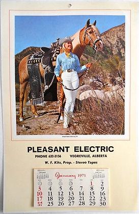 Vintage Advertising Calendar 1971