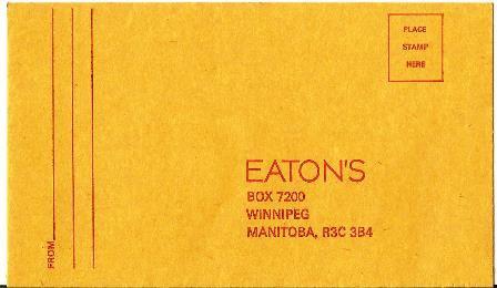 Vintage Envelope T.Eaton Co.