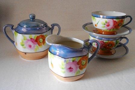 Antique Lustreware Tea Set