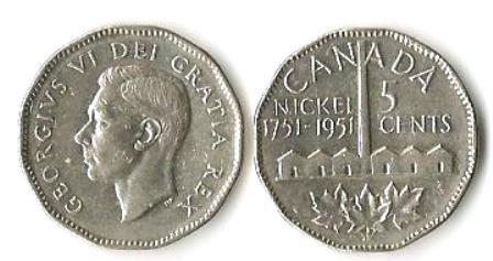 1951 CANADA Nickel Commemorative (2)