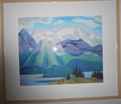 "DORIS MCCARTHY ""ALONG THE ATHABASCA  Painting"