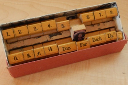 Vintage Price Stamping Kit