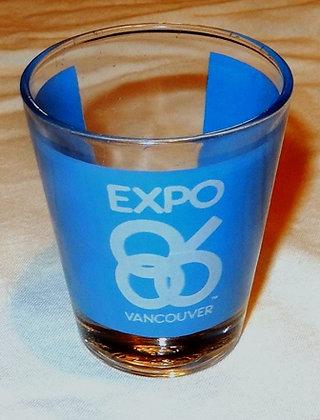 Vintage Vancouver Expo 86 Souvenir Shot Glass