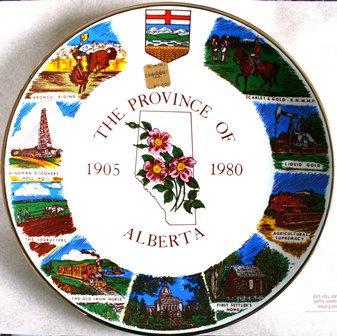 VINTAGE COLLECTOR PLATE ALBERTA CANADA 1905-1980