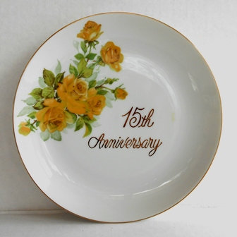 15th Anniversary Celebration Plate