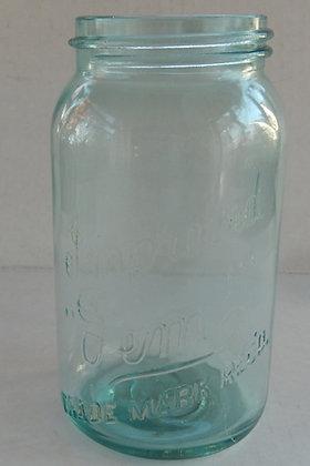 Improved Gem Teal Blue Mason Jar
