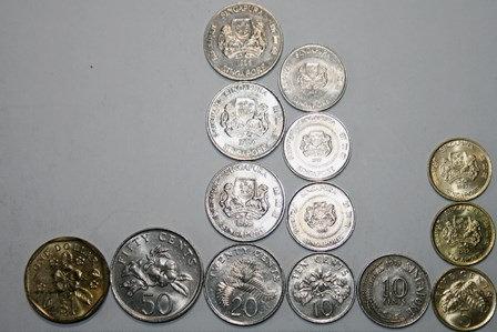 SINGAPORE -15 COINS(1 DOLLAR(2),20,10(2),5 & 1 CEN