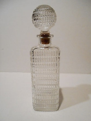 Vintage Square Clear Glass Decanter Cork Stopper