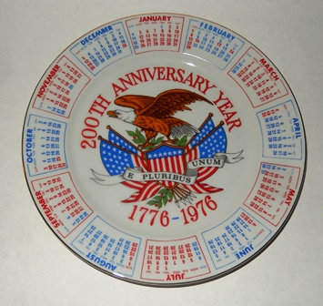 USA 200th Anniversary Commemorative Plate