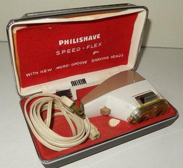 Vintage Philishave Speed Flex Electric Razor