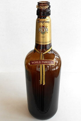 Seagram's Whiskey TEXAS MICKEY Bottle