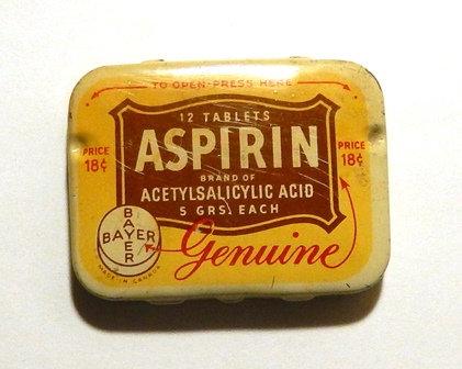 50's BAYER Aspirin Tin Box