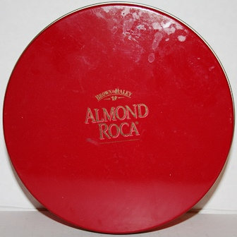 Vintage Almond Roca Tin