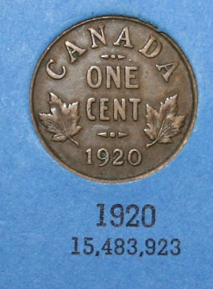 1920 Canadian Small Cent