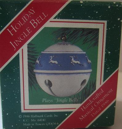 Vintage 1986 Hallmark Jingle Bells Ball Ornament M