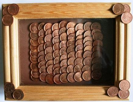 Canadian Pennies 100 Framed Shadow Box