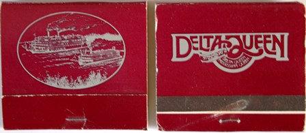 Matchbook Cover 30 Count- Delta Queen Steamboat