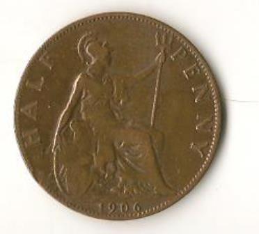 1906 Great Britain Half Penny