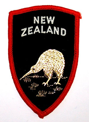 VINTAGE NEW ZEALAND  EMBROIDERED SOUVENIR PATCH