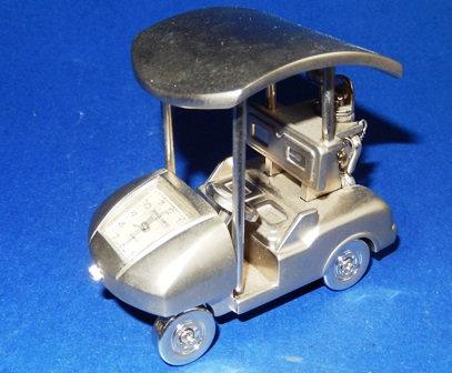 Miniature Golf Cart Desktop Clock