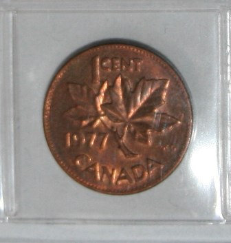 Canadian One Cent Penny 1977
