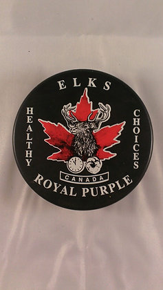 Elks Canada Royal Purple Hockey Puck