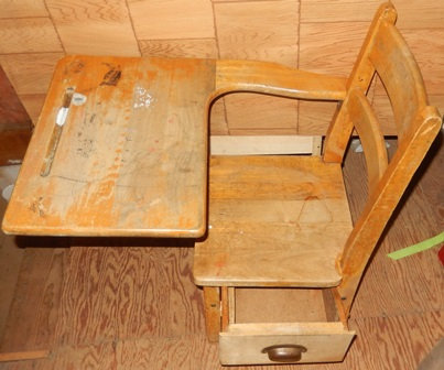 1940's Student's School Desk with Drawer