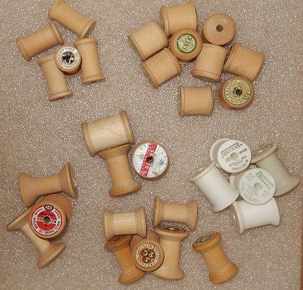 Assorted Wooden Thread Spools (30)