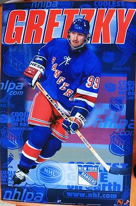 Wayne Gretzky Poster NHL Rangers