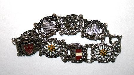 Vintage Belgium Landmarks Souvenir Bracelet