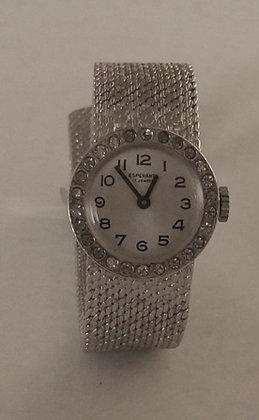 Vintage Ladies Silver Esperanto Watch
