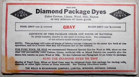 Antique Unused Diamond Package Dyes Grey Color