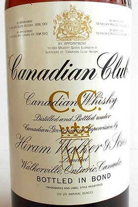 Texas Mickey Canadian Club Whiskey Bottle