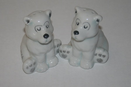 Polar Bear Ceramic Salt & Pepper Shakers