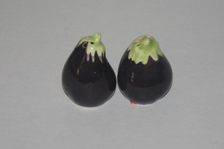 Egg Plant Salt and Pepper Shakers