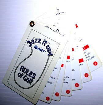 Rules of Golf Plastic Cards on Ring