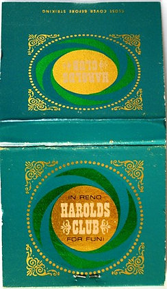 Matchbook Cover 30 Count Harolds Club Reno