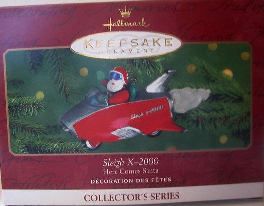 Hallmark Ornament Sleigh X-2000