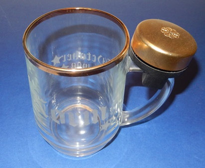 'Ring For Your Beer' Glass Mug