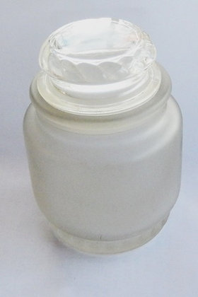 Frosted White Glass Apothecary Jar