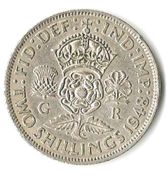 1948 GREAT BRITAIN 2 SHILLINGS COIN